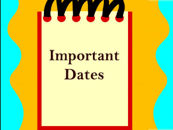 2019-2020 Important Dates for Families