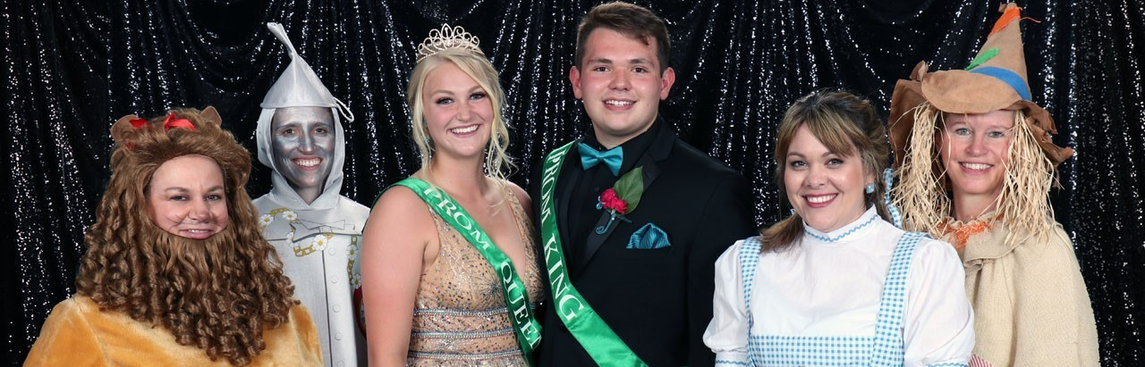 2019 Prom Queen and King and staff